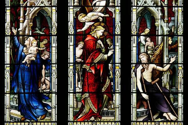 Photo: Jesus heals the sick | Tewkesbury Abbey